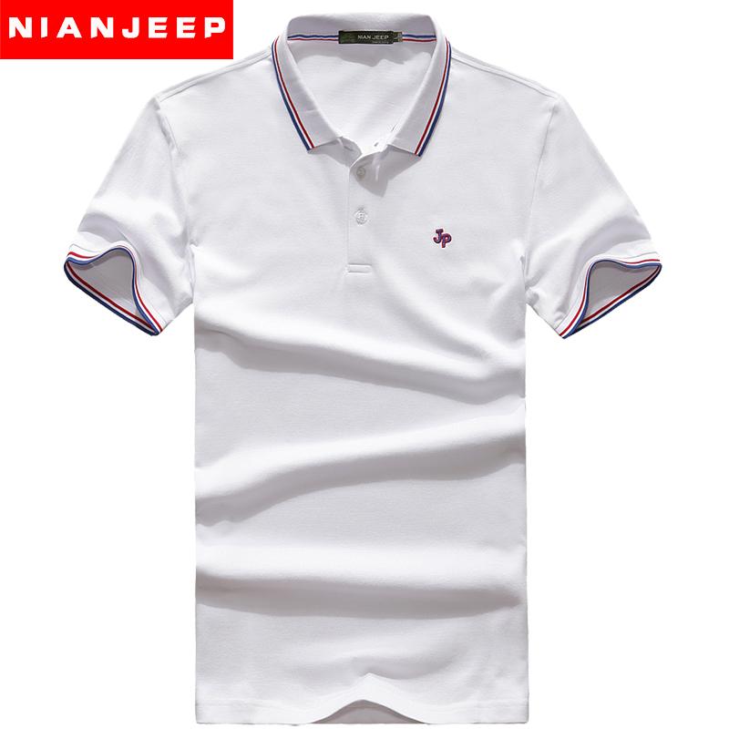 夏季新款翻领t恤男装 纯棉布polo衫纯色男士短袖大码短袖宽松半袖3元优惠券