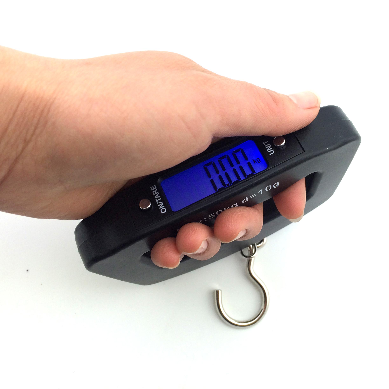 【天天特价】 大手柄行李秤快递秤手提秤电子秤电子称弹簧称50kg