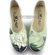 新汉服新款鞋中国风手绘鞋坡跟帆布鞋老北京单鞋女内增高美容鞋
