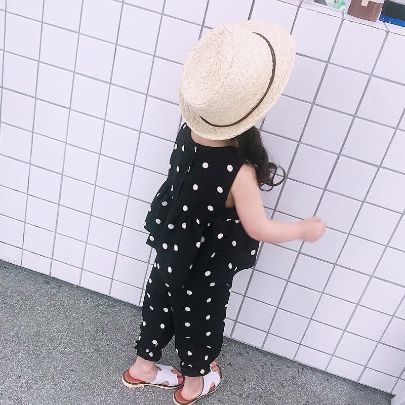 儿童套装女童夏装圆点