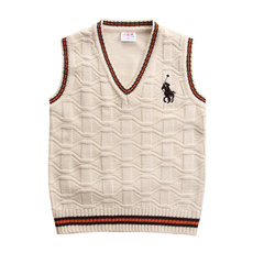 Children's clothing big boy boys and girls wool vest vest knit vest children's sweater vest autumn and winter new wave