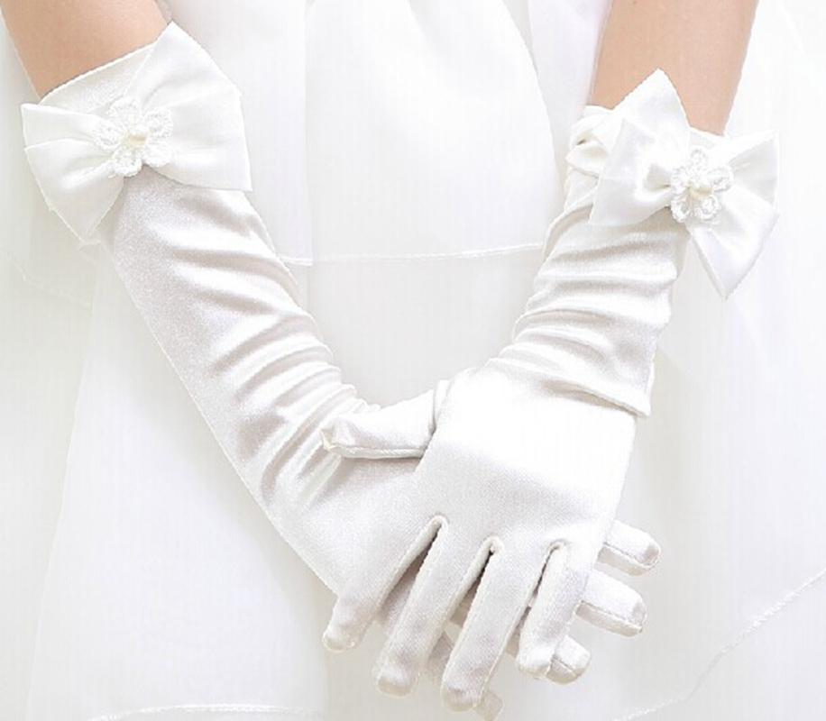 儿童白色手套