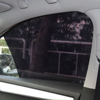 Car static sunshade film car sunshade electrostatic film can lift glass sunshade sunscreen all black