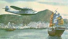 美国马丁M-130水上遥控轻木电动固定翼像真飞机航模制作图纸