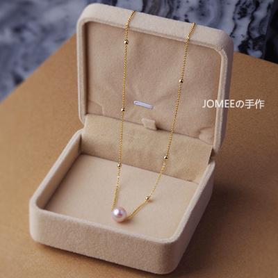 JOMEEの手作 【定制区】8-9mm天然珍珠美国14K包金项链 锁骨链
