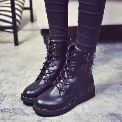 骑士靴女棉