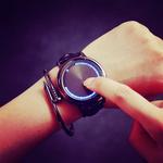 韩国创意夜光时尚简约潮男陈冠希韩版个性炫酷真皮表带手表石英表