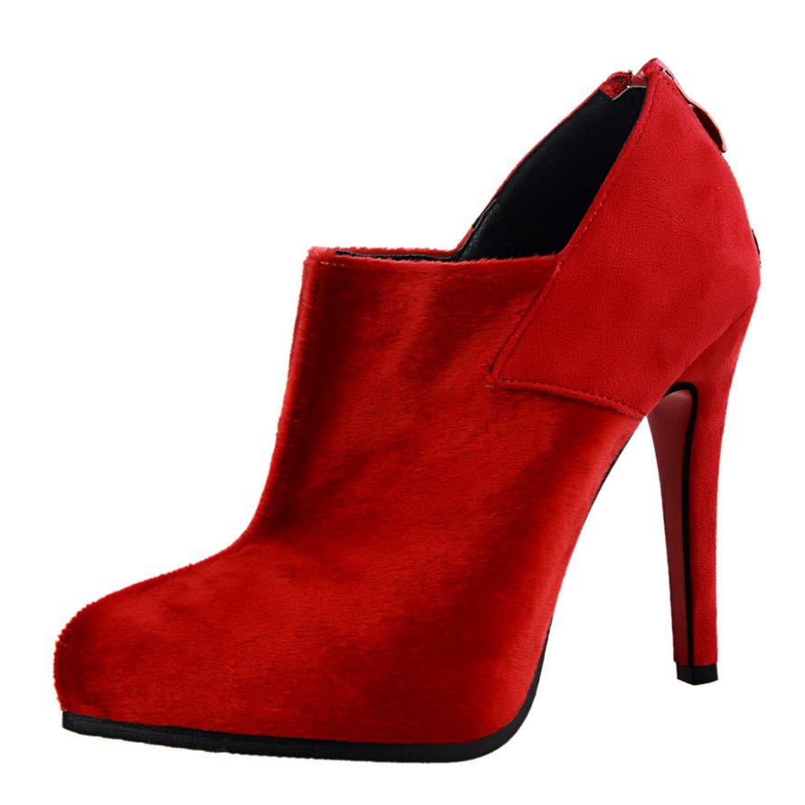 高跟外贸短女靴真皮