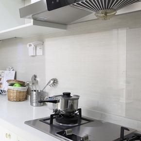 防油贴吸油烟机厨房瓷砖灶台大号防水自粘耐高温铝箔贴纸防火清洁
