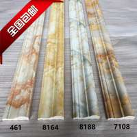 PVC solid imitation marble line TV background wall decorative border frame door frame door line door waist line