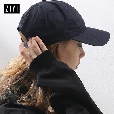 ZIYI棒球帽子女夏天户外运动速干帽搭配黑白色潮款防晒遮阳鸭舌帽