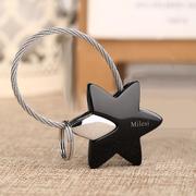 情侣钥匙扣创意星星韩版汽车钥匙链女款钥匙圈金属钥匙挂件男士