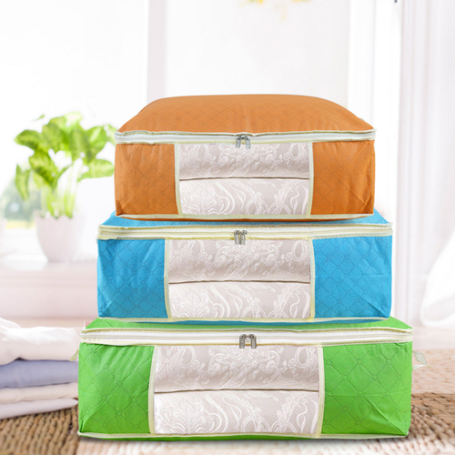 【买三送一】无纺布防潮收纳袋棉被整理袋大号杂物袋衣物行李袋子