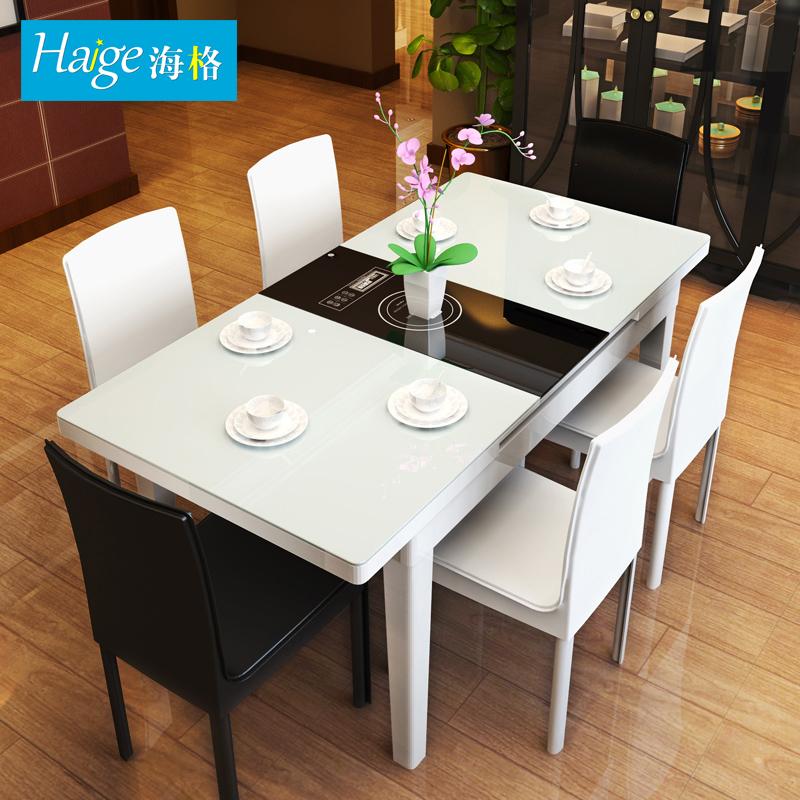 钢化玻璃火锅餐桌
