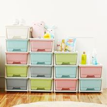 透明抽屉式收纳柜 卧室储物柜客厅收纳鞋柜 塑料夹缝儿童床头柜子