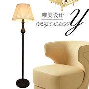 欧式落地台灯客厅卧室床头立式地灯LED时尚简约美式铁艺落地台灯