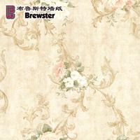 布鲁斯特墙纸美式乡村田园卧室客厅背景墙环保壁纸花团锦簇1009A