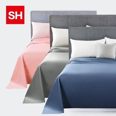 100%棉床单 纯棉全棉床单单件素色纯色单人双人被单酒店学生宿舍