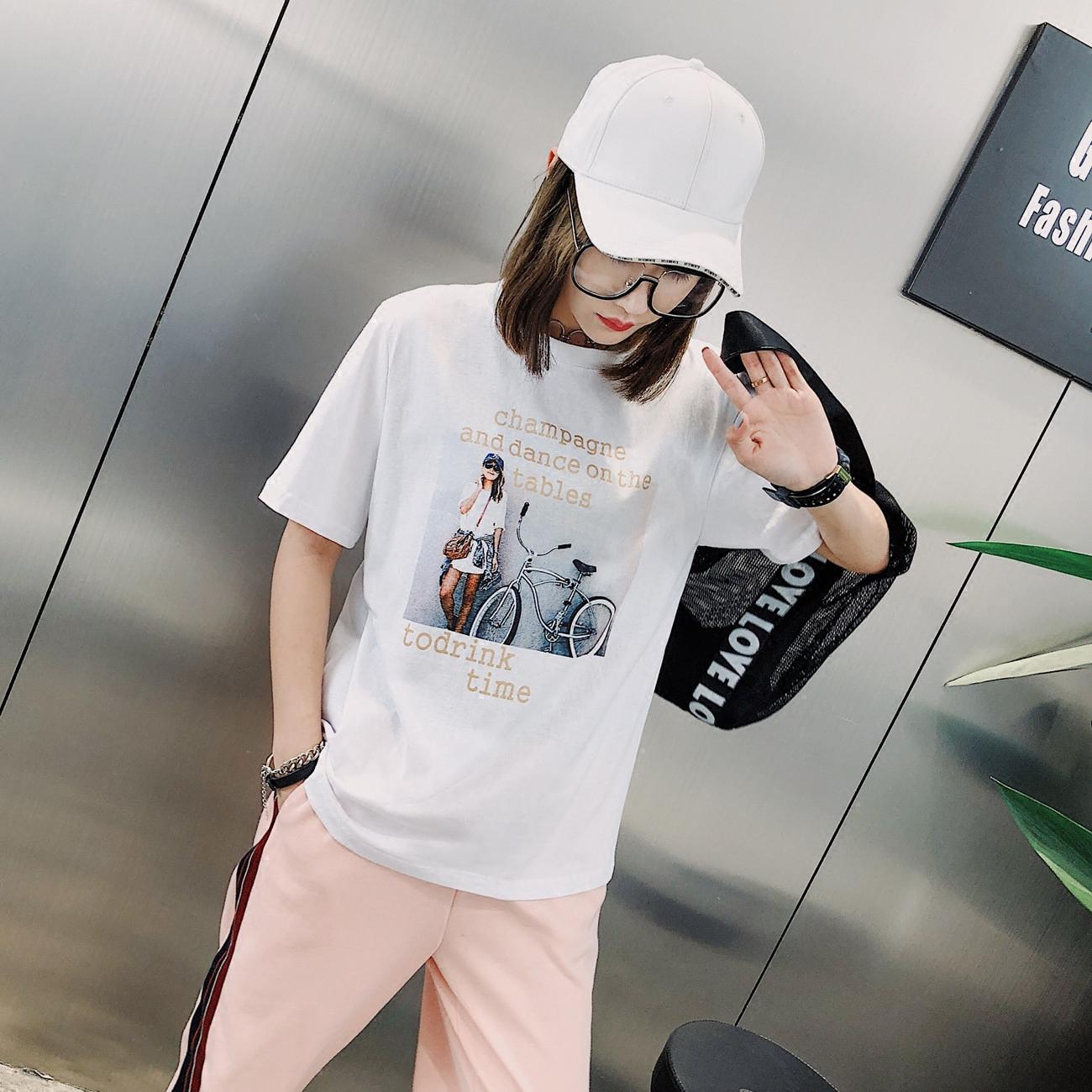 夏季BF学院风T恤 潮流印花短袖
