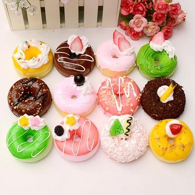 仿真食物模型道具甜甜圈蛋糕摆件玩具婚庆橱窗样板装饰拍摄摆设