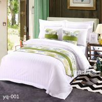 Hotel hotel bedding premium bed scarf bed flag bed tail pad bed table flag can be equipped with the same cushion pillow