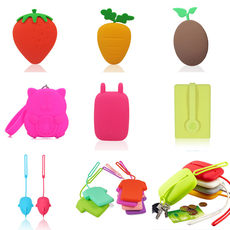 Korea Creative Cute Silicone Key Bag Keychain Coin Bag Card Bag Change Storage Bag Free Shipping