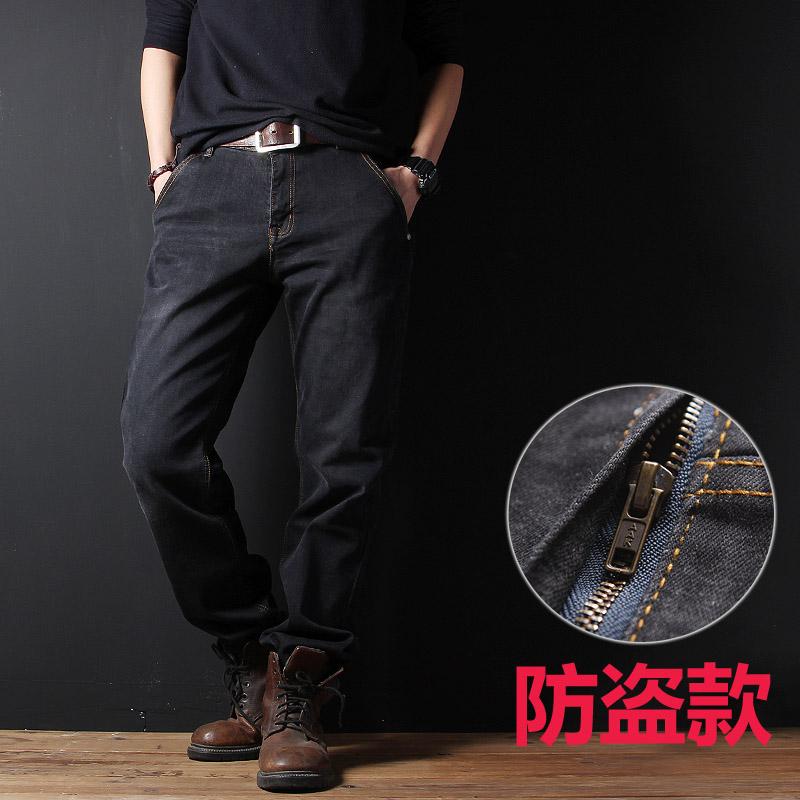 男装牛仔加绒裤
