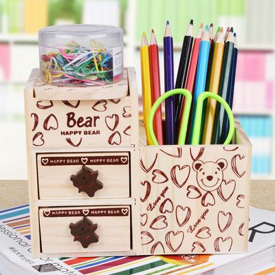 小熊笔筒学生