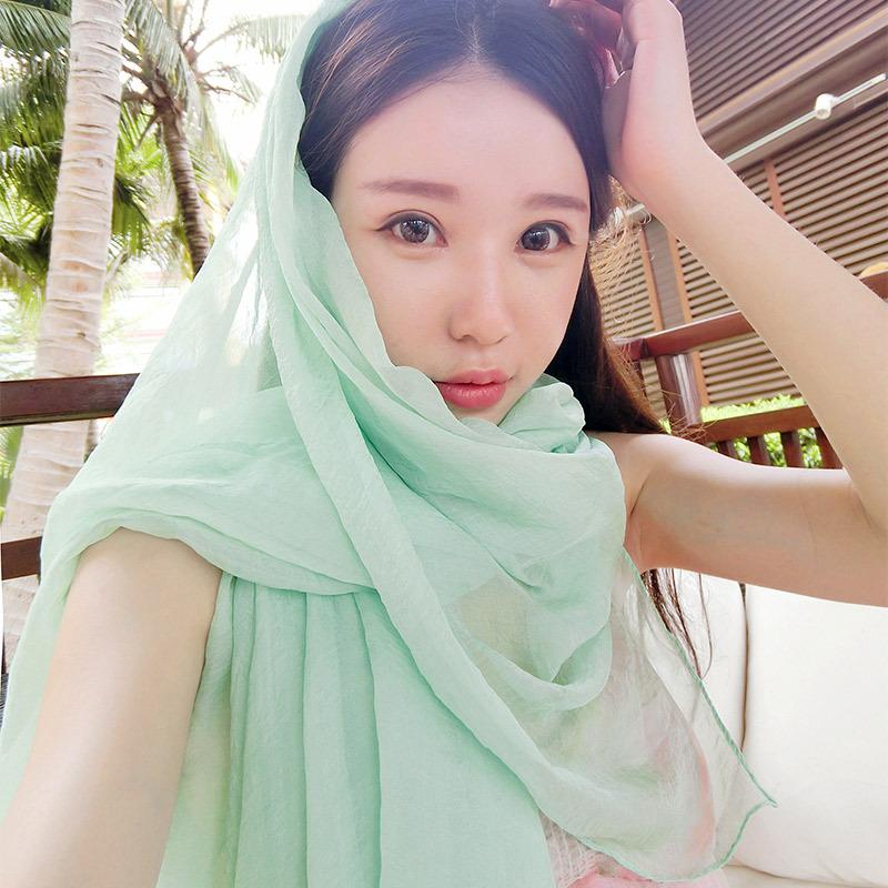 韩版超长雪纺丝巾