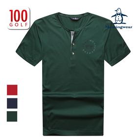 Munsingwear万星威高尔夫服装男士 夏季圆领短袖T恤练习衫新品