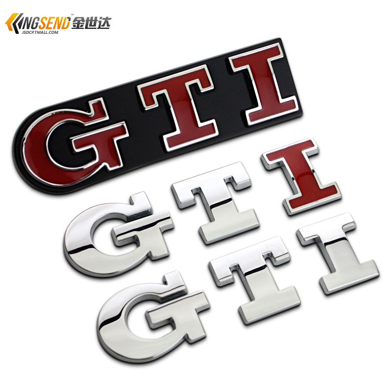 大众 POLO 高尔夫6 7代GTI车标中网标 大众GTI兔子车贴个性尾标