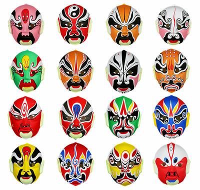 林芳10g万圣节舞会手绘中式京剧面具变脸儿童京剧脸谱面具装饰