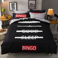 欧美风床上用品四件套床单双人被子被套床笠男女学生宿舍3三件套4