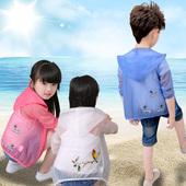 夏季女童男童小女孩男孩防晒服 韩版 儿童防晒衣超薄款 透气2018新款图片