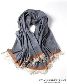 绝版好货 绒尖精织重磅提织水波纹纯山羊绒披肩 超大宽版大披毯
