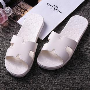 h拖鞋女夏季情侣居家凉拖鞋女防滑塑料厚底家用洗澡浴室拖鞋男