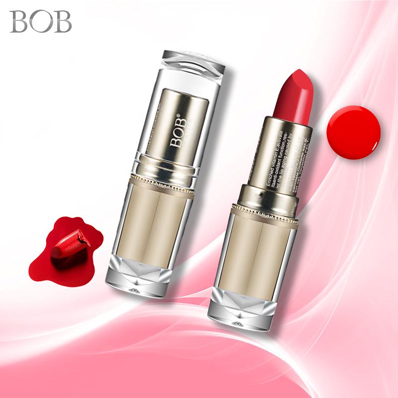 包邮!BOB彩妆倾心奢华唇膏口红裸色橘色大红保湿3.8g