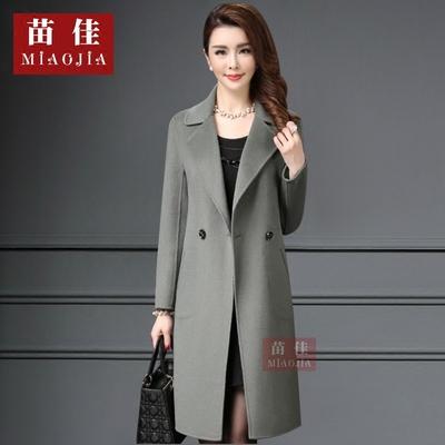 特价清仓冬装毛呢外套女中长款韩版中老年妈妈装修身加厚羊绒大衣