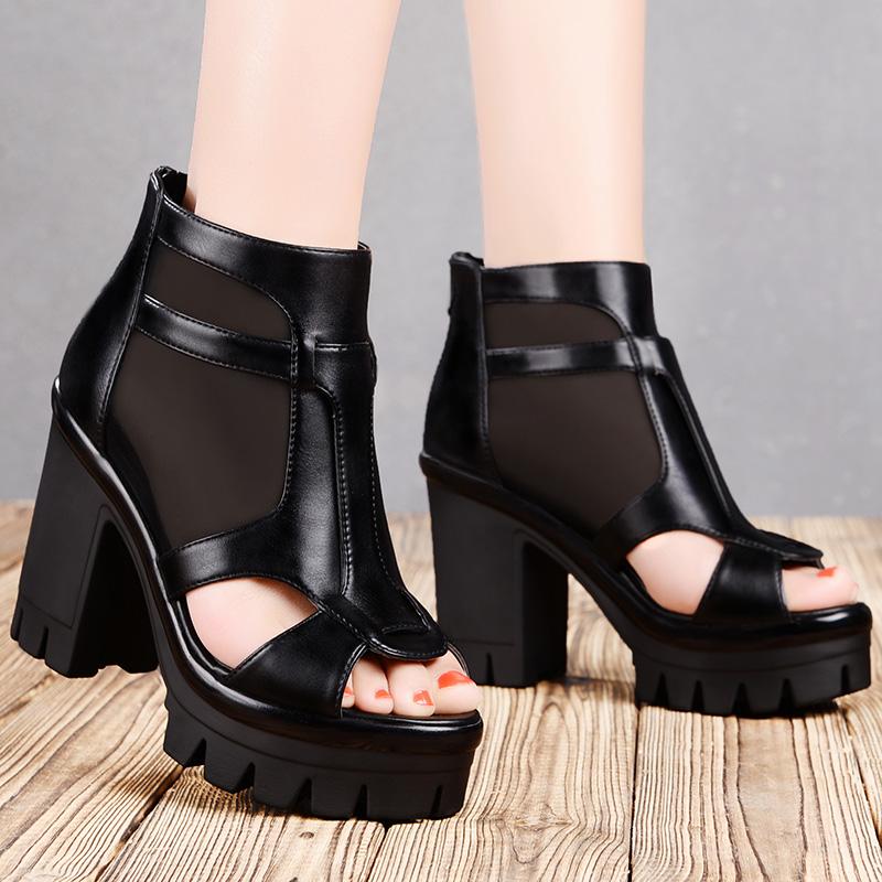 坡跟高跟女鞋松糕跟2015春夏季凉鞋高帮单鞋休闲短靴女靴皮鞋女