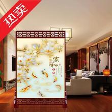 时尚简约现代卧室客厅中式装饰屏风玄关雕花隔断实木移动镂空座屏