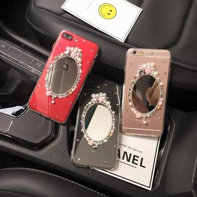 vivo v3手机壳v3m宝石花朵流苏v3max保护壳水钻全包镜子软硅胶女