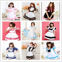 Maid loaded anime cosplay large size black and white cute coffee restaurant maid uniform cosply costume female
