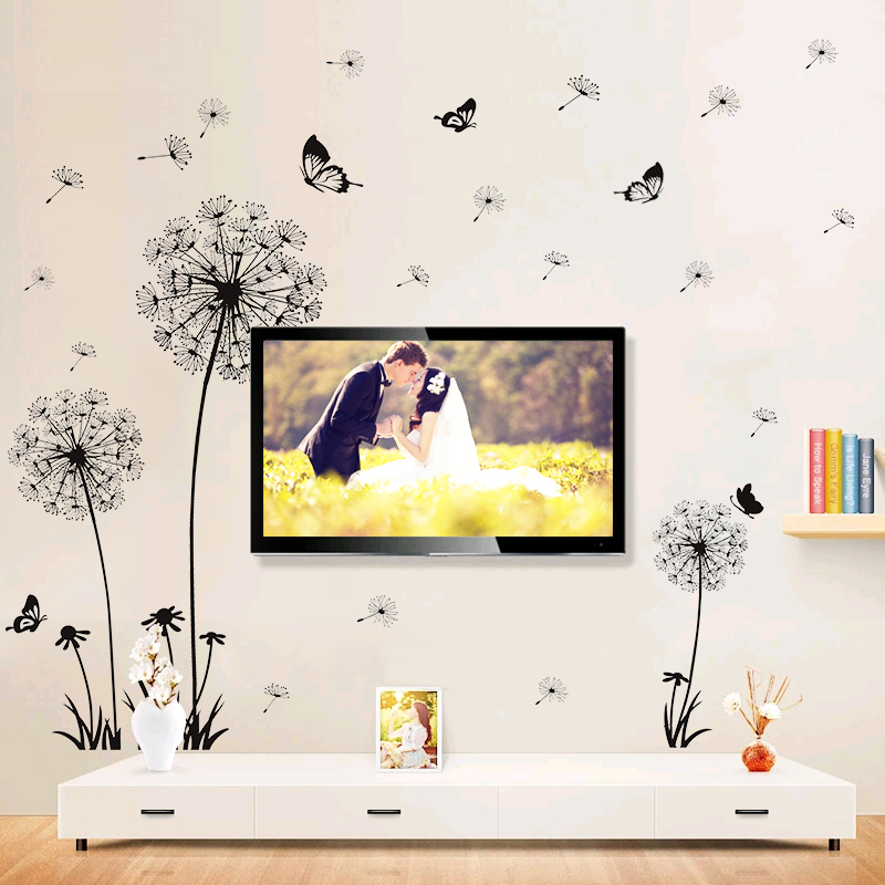 电视背景墙贴 蒲公英