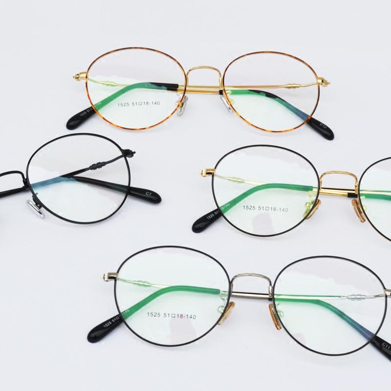 大光明大脸韩版复古拼色眼镜框 圆框眼镜架男女通用 可配平光眼镜
