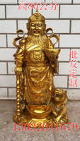 Pure copper Zhao Gongming Fortuna riding tiger bronze statue ornaments Wucai Buddha Feng Shui crafts wholesale custom