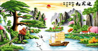 Cross stitch drawings electronic version Welcome Song Fortune Edition 690*300