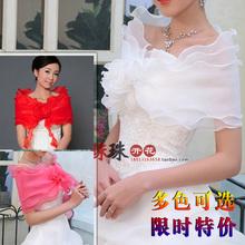 Wedding dresses, accessories, brides, white shawls, lace shawls, spring and summer summer, chiffon shawls, flowers, Korean style.