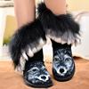 黑色狐狸毛靴