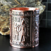 Manu land ancient Egypt metal creative pen holder retro European home office decoration decoration student gift