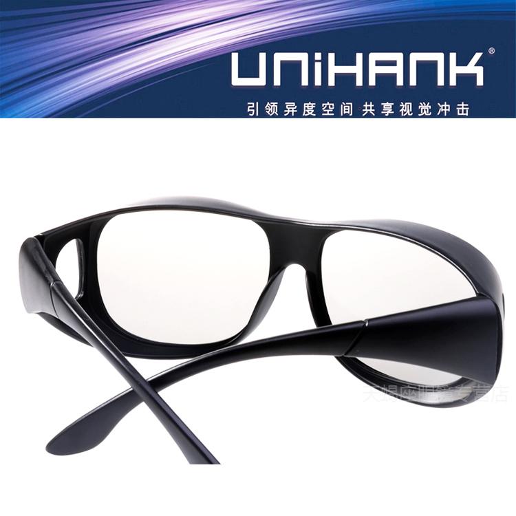 夹片3d眼镜近视专用 不闪式3D眼镜 电脑电视影院通用偏光3DREALD1元优惠券